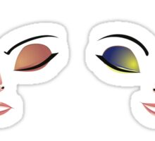 Facial Expression of Woman 7 Sticker