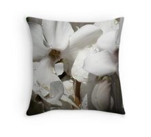 Cyclamen Blossoms Throw Pillow