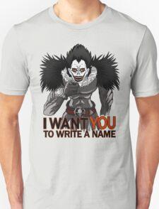 Write a name. T-Shirt