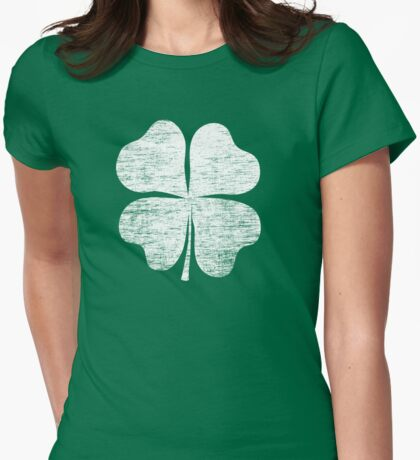 St. Patrick's Day Women's Retro Shamrock American Apparel Shirt Womens Fitted T-Shirt
