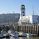 Scarborough Lighthouse. by John (Mike)  Dobson