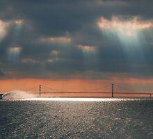 Mackinac Bridge Ferry boat by Charles Butzin