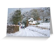 Walking Off Sunday Lunch Greeting Card
