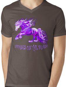 Horses On The Brain Mens V-Neck T-Shirt