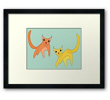 Jumpy Cats Framed Print