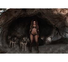 Wolf girl Photographic Print