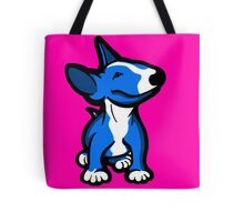 English Bull Terrier Pup Blue  Tote Bag
