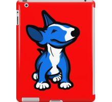 English Bull Terrier Pup Blue  iPad Case/Skin
