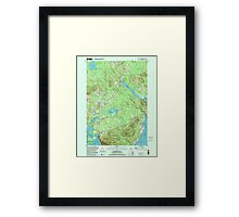 Maine USGS Historical Map Lincolnville 808031 2000 24000 Framed Print