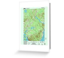 Maine USGS Historical Map Lincolnville 808031 2000 24000 Greeting Card