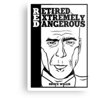 R.E.D - Retired Extremely Dangerous Metal Print