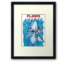 Flaws The Left Shark Jaws Parody Framed Print