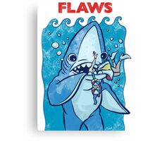 Flaws The Left Shark Jaws Parody Canvas Print