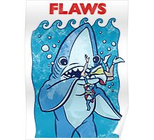 Flaws The Left Shark Jaws Parody Poster
