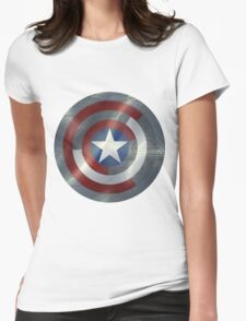 Steve & Bucky Unshielded Turned Shield  Womens Fitted T-Shirt