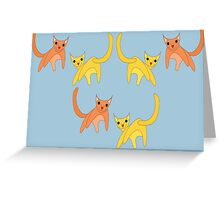 Falling Cats  Greeting Card