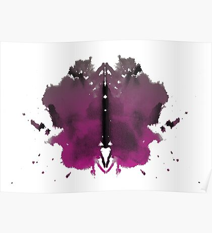 Rorschach test in color Poster