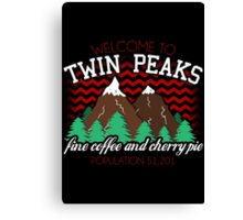 Welcome to Twin Peaks Canvas Print