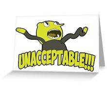 Lemongrab unacceptable Greeting Card