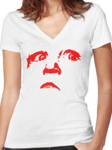 an evil child Women's Fitted V-Neck T-Shirt
