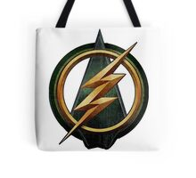 CW Arrow and The Flash Crossover Symbol Shirt Tote Bag
