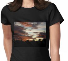 Tropical Twilight - Orange Belly Blanketed Cloudscape  Womens Fitted T-Shirt