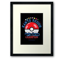 Kanto region champion Framed Print
