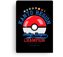 Kanto region champion Canvas Print