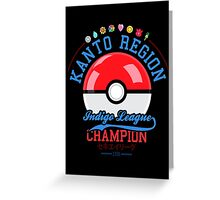 Kanto region champion Greeting Card