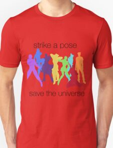 JJBA- Strike a Pose, Save the UNIVERSE!!! T-Shirt