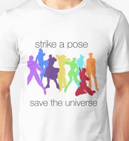 JJBA- Strike a Pose, Save the UNIVERSE!!! Unisex T-Shirt