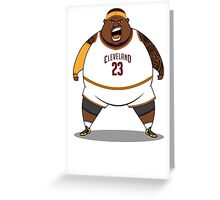 FATTTY Bron in Away Whites Greeting Card