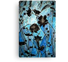 Blue Japanase Woodcut Canvas Print
