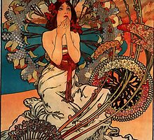 'Monaco' by Alphonse Mucha (Reproduction) by Roz Abellera Art Gallery