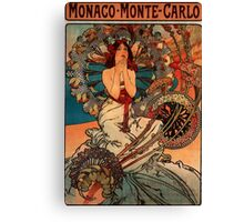'Monaco' by Alphonse Mucha (Reproduction) Canvas Print