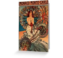 'Monaco' by Alphonse Mucha (Reproduction) Greeting Card