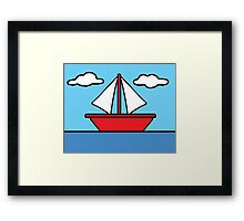 The Simpsons Sailboat Framed Print