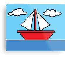 The Simpsons Sailboat Metal Print