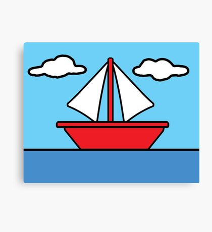 The Simpsons Sailboat Canvas Print