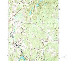 Maine USGS Historical Map Lisbon Falls North 460562 1979 24000 by wetdryvac