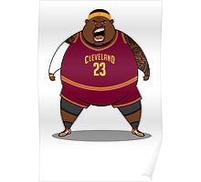 FATTTY Bron in Road Reds Poster