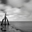 Lake Grevelingen in B&W. by Adri  Padmos