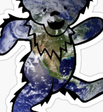 Grateful Dead Dancing Bear Trippy Sticker