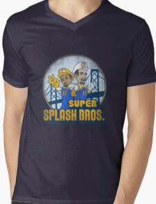 Super Splash Bros  Mens V-Neck T-Shirt