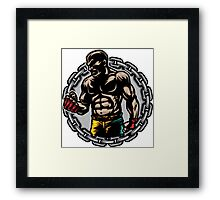 Boxer Chains Framed Print