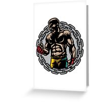Boxer Chains Greeting Card