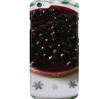 Blackcurrant Cheesecake on Retro Pyrex Plate iPhone Case/Skin