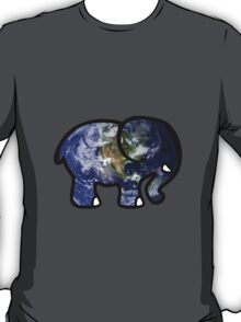 Trippy Elephant Earth T-Shirt