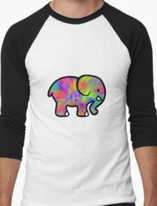Trippy Elephant Men's Baseball ¾ T-Shirt