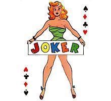 Joker Girl Photographic Print